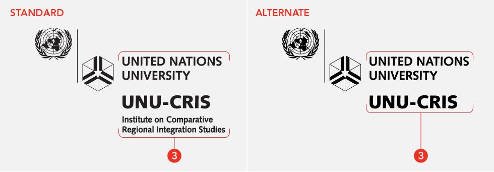 UNU institute logo variants