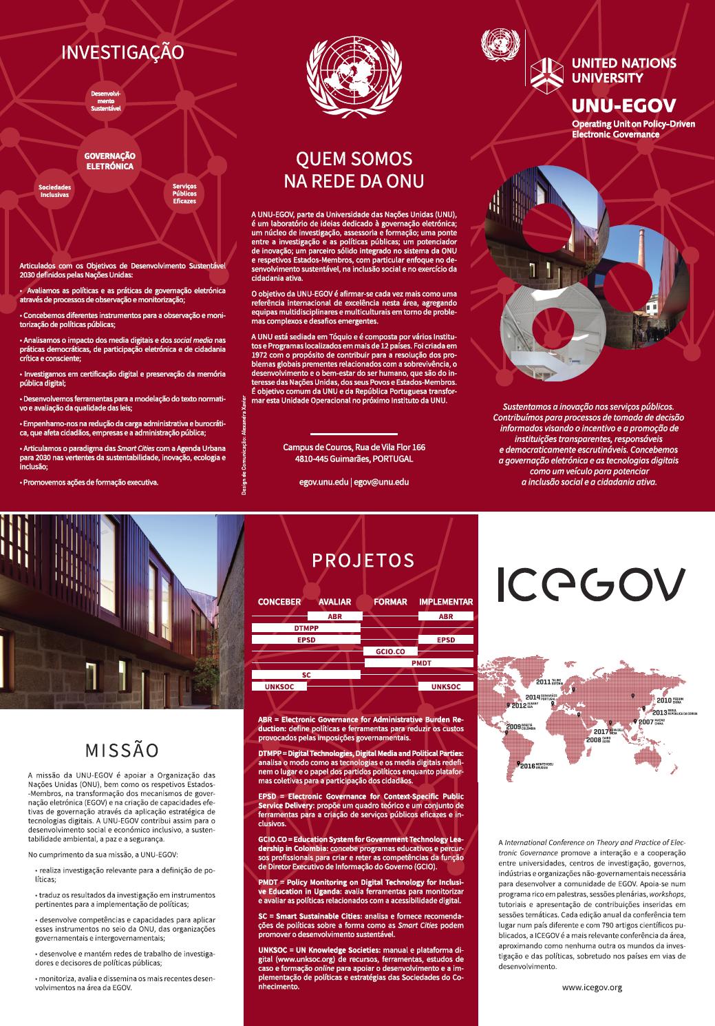 UNU-EGOV Leaflet - Portuguese