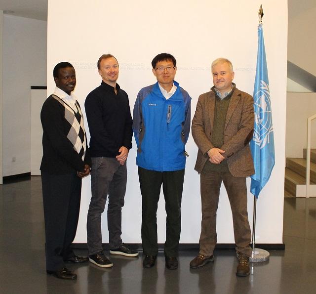 From left to right: Kenneth Bagarukayo, Morten Meyerhoff Nielsen, Jun Cheng, and Tomasz Janowski