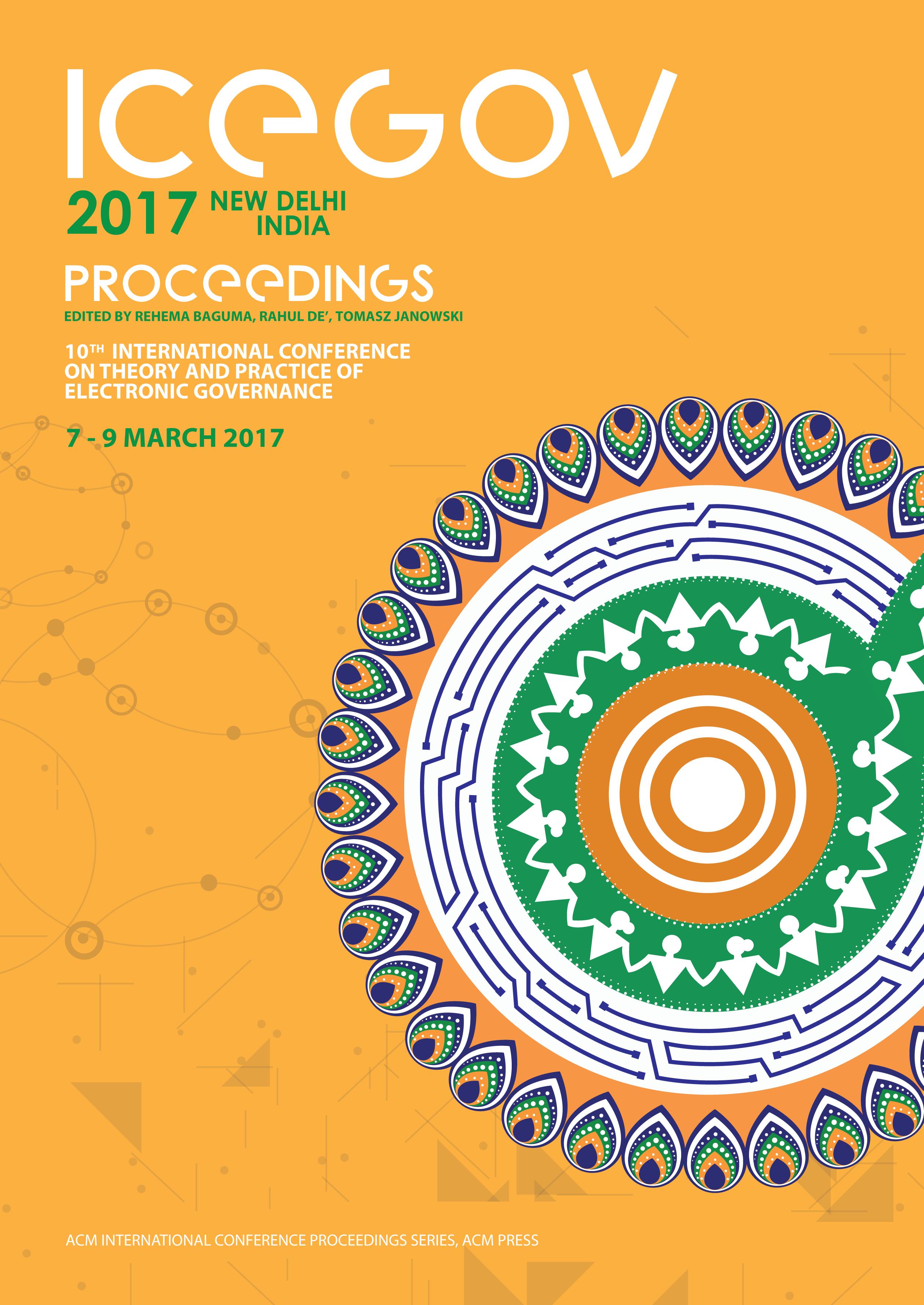 ICEGOV2017 Proceedings cover news item