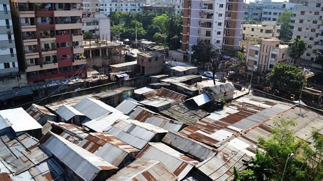 Bhola Slum in Dhaka Bangladesh was first built in the 1970s by people moving here from Bhola Island after the devastating 1970 Bhola cyclone
