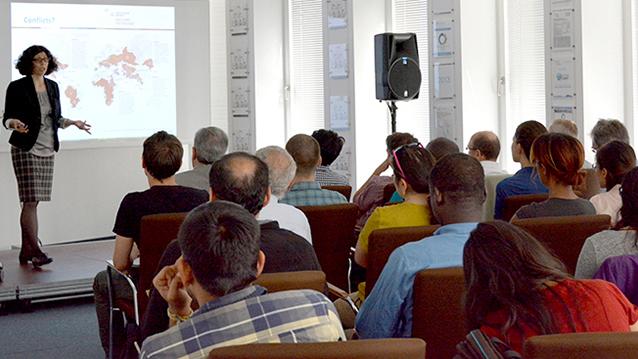 Dr. Tamara Avellán (UNU-FLORES) presents at Nexus Seminar No. 12