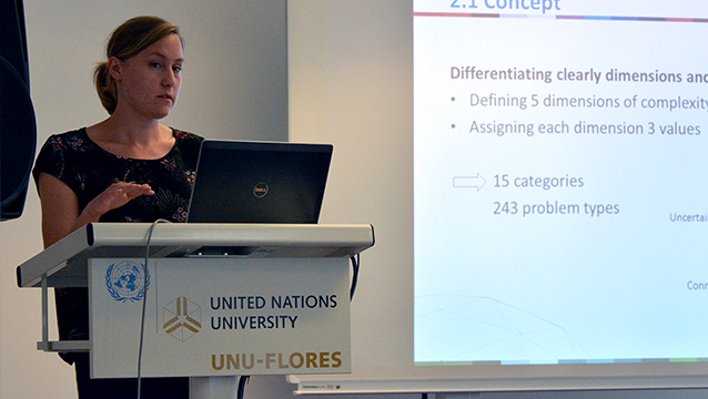 Sabrina Kirschke (UNU-FLORES) presents at Nexus Seminar No. 21