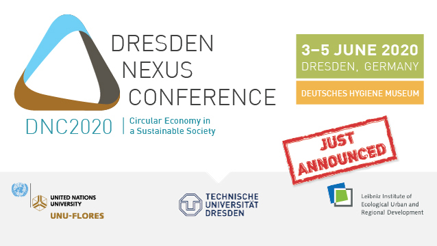 Dresden Nexus Conference 2020: Circular Economy in a