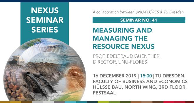 Measuring and Managing the Resource Nexus (Slider)