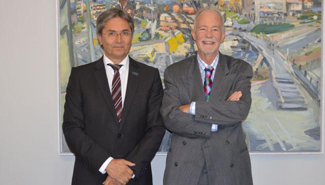 UNU Rector David Malone with TUD Rector Mueller-Steinhagen