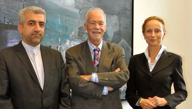 UNU Rector David Malone with Minister von Schorlemer and Reza Ardakanian