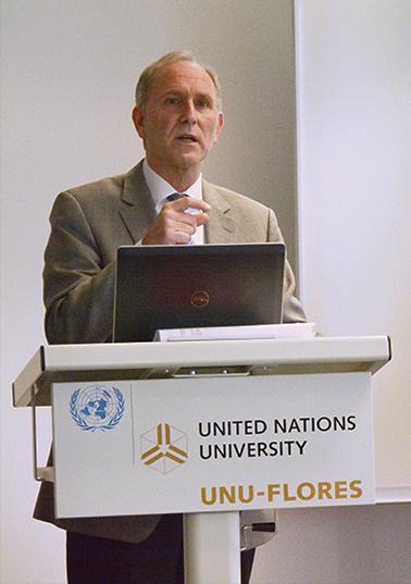 Prof. Joseph Alcamo, ExecutiveDirector of the Center for Environmental Systems Research (CESR), University of Kassel (Image: UNU-FLORES