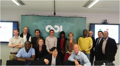 FICESSA Kick-Off Meeting participants, from left (back row): Giles Henley (ODI, UK), Tony Hill (Proforest, UK), Alexandros Gasparatos (University of Tokyo, Japan), Nicolas Viart (Bonsucro, UK), Nadia Ouedraogo (UNU-WIDER, Finland), Elizabeth Oughton (Newcastle University, UK), Dadson Awunyo-Vitor (Kwame Nkrumah University of Science and Technology (KNUST), Ghana), Steve Wiggins (ODI, UK), Sherwin Gabriel (South Africa Treasury, South Africa),  Sebsebe Demissew (Addis Ababa University, Ethiopia). Front row: Yaw Agyeman Boafo (UNU-IAS), Sonia Slavinski (Bonsucro, UK), Osamu Saito (UNU-IAS), Mike Ogg (RMI, Swaziland)