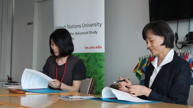UNU and Aoyama Gakuin Libraries sign an MOU