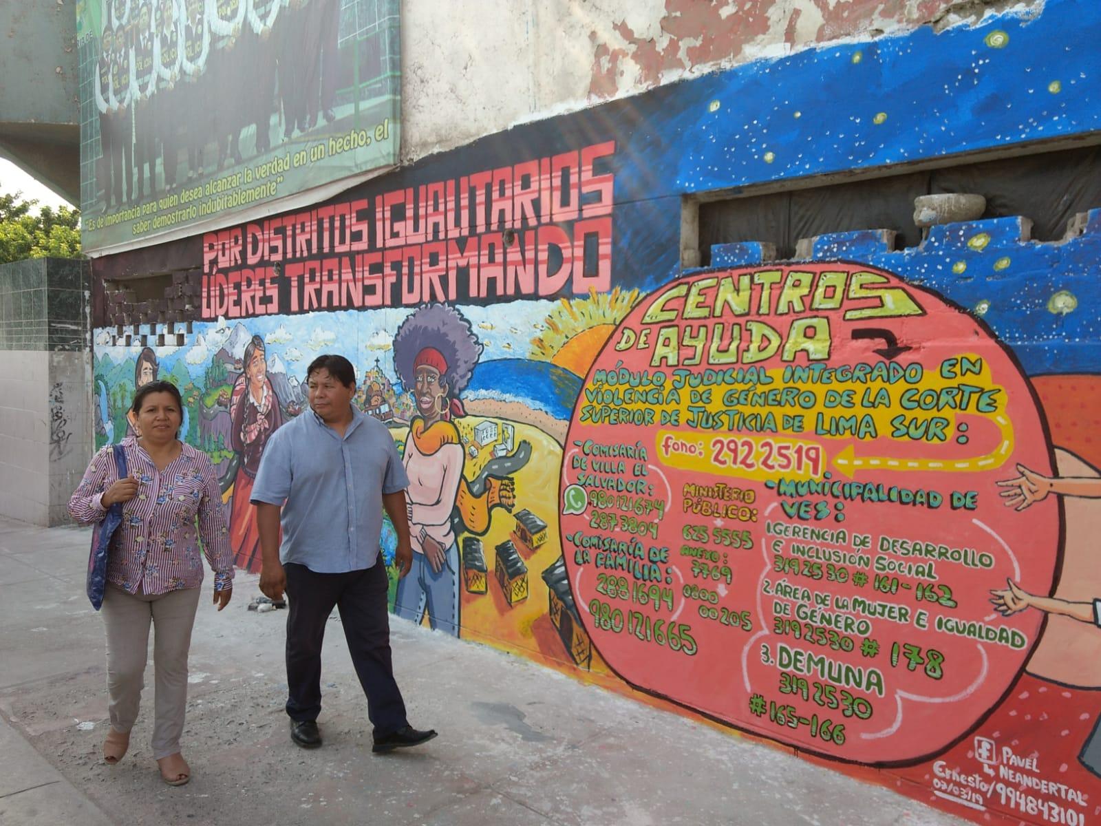 UNDP mural in Lima