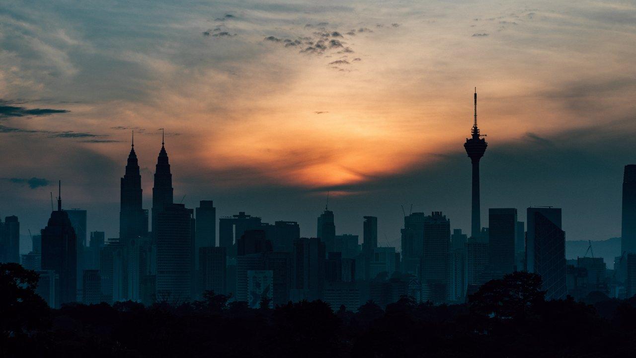 Kuala Lumpur skyline at dawn
