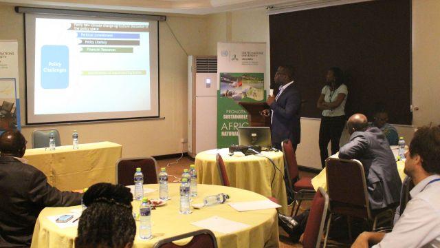 Dr Eric Twum, a participant, making a presentation