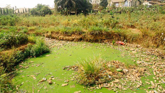 An urban wastewater drain. Photo: Effiom Oku, UNU-INRA.
