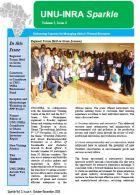 Cover- UNU-INRA Newsletter- 4th Quarter, 2015