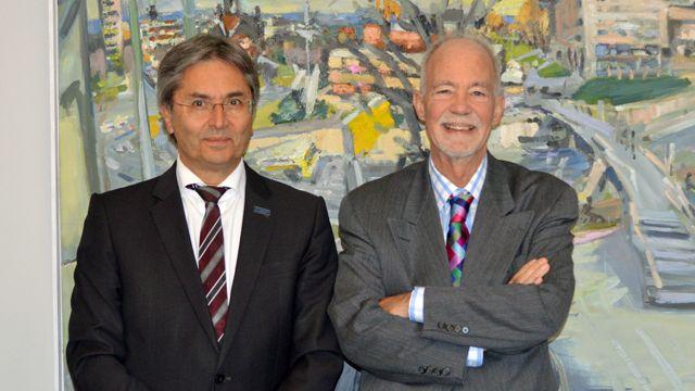 ハンス・ミューラー・シュタインハーゲン TUD学長とデイビッド・マローン国連大学学長