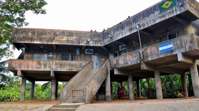 A cyclone shelter in Gabtola, Bangladesh.