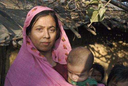 Rohingya woman in camp