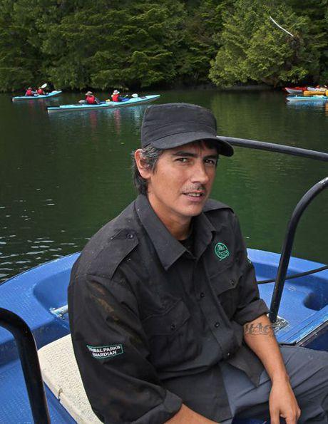 Cory and kayakers
