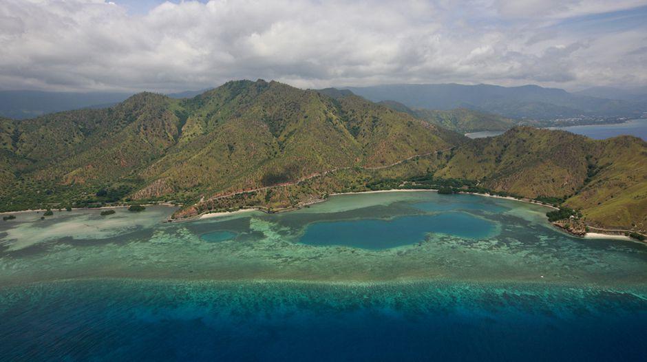 Aerial View near Dili Timor-Leste