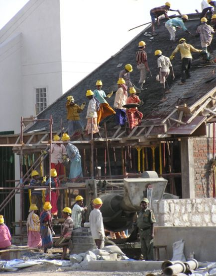 construction in india