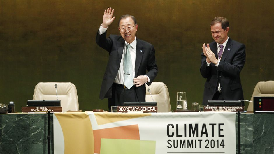 Ban Hails Bold Announcements on Tackling Climate Change as UN Summit Closes