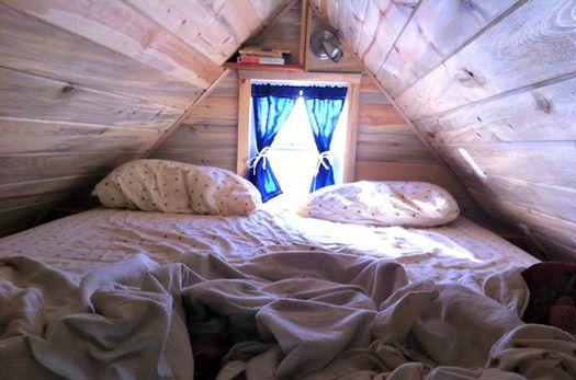 A tiny bedroom. Photo: Shareable.