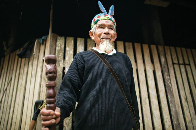 Sabino Gualinga, traditional healer and community elder. Photo: © Caroline Bennett / Amazon Watch.