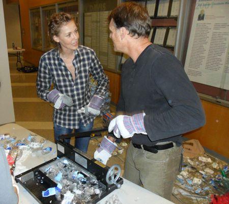 Cutting plastic at UCDavis