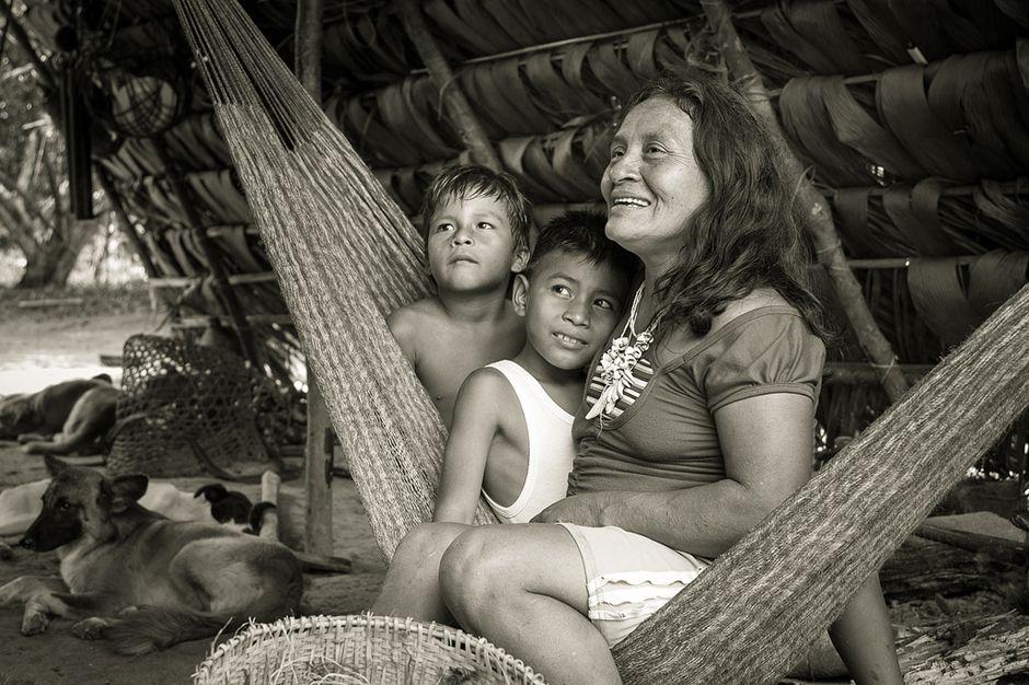 Huaorani family