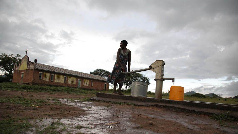 pumping water Malawi