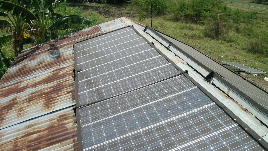 big panel on a roof in Tanzania