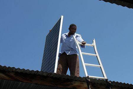 installing solar in Tanzania