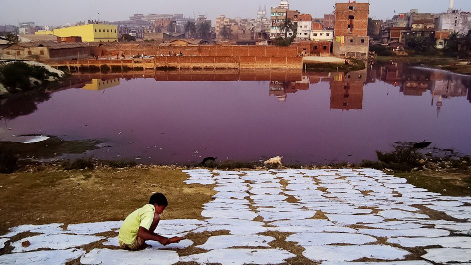 Colours of water: Bangladesh's leather tanneries