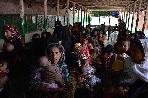Rohingya women and children