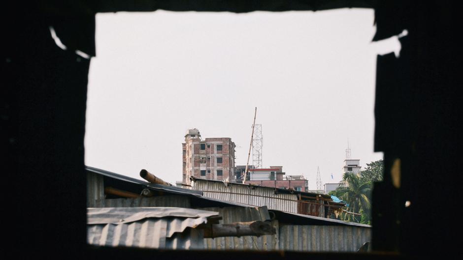 An urban slum in Dhaka, Bangladesh
