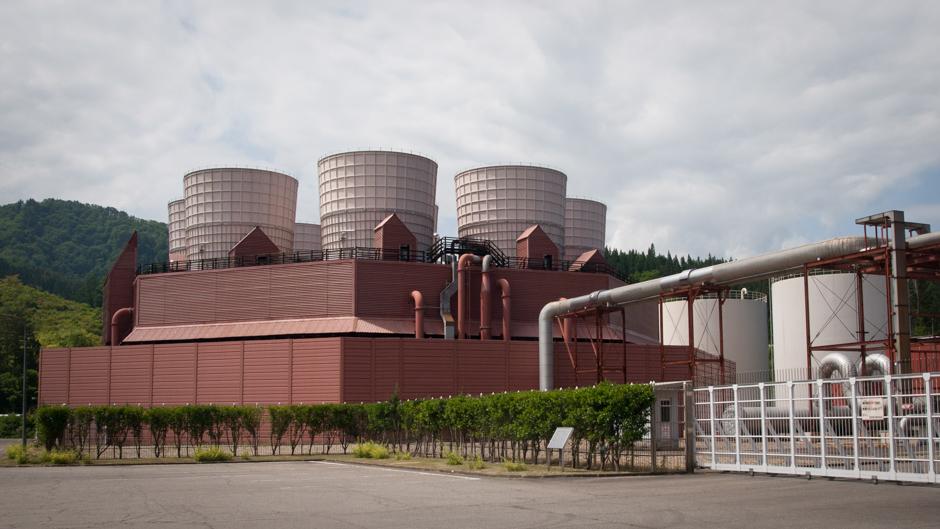 Yanaizu-Nishiyama geothermal power plant, Yanaizu Town, Fukushima Prefecture, Japan