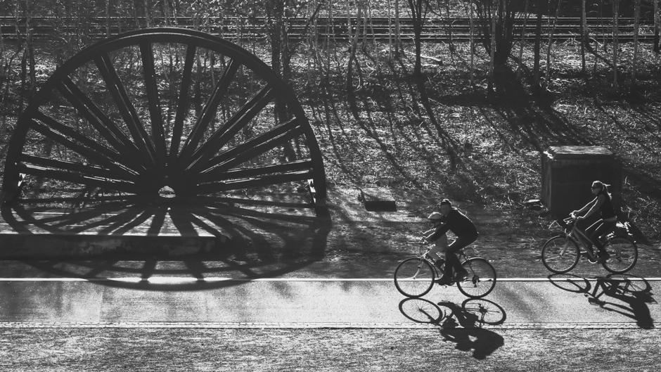 Essen, Germany cyclists