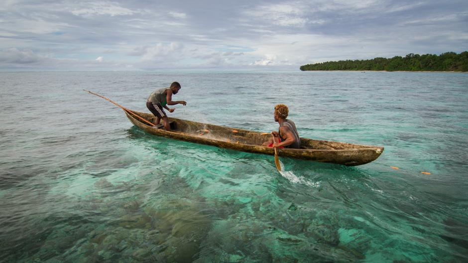 Two fisherman Malaita Province, Solomon Islands