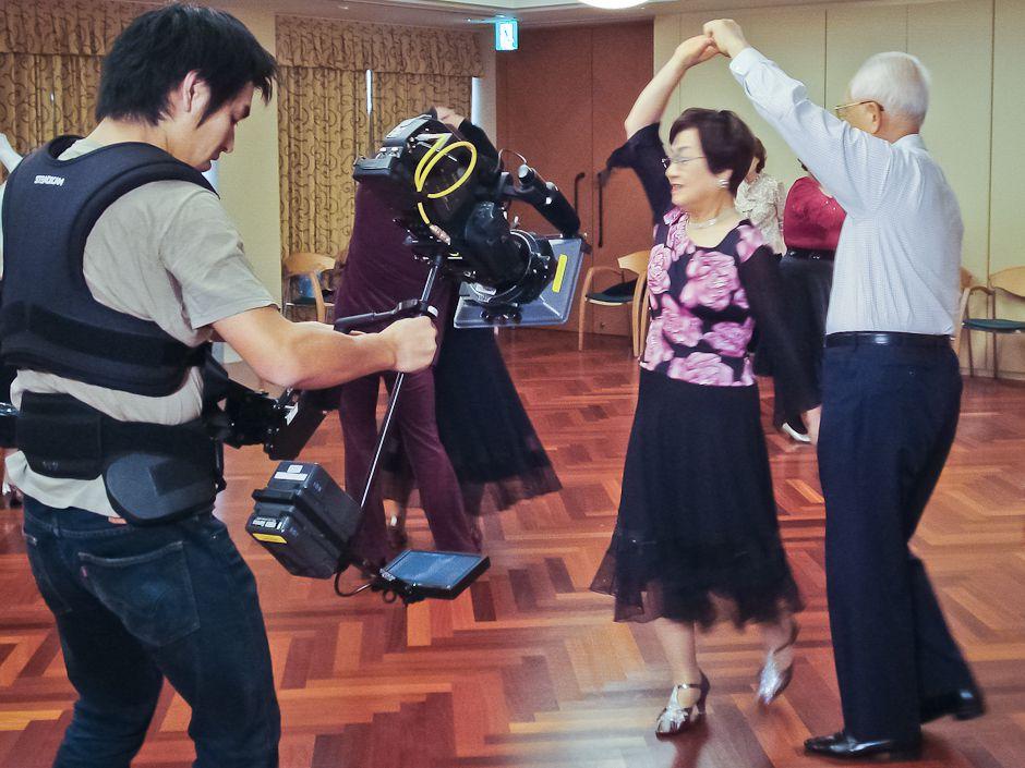 Ryo Murakami filming The Wisdom Years. Photo: Andreina Lairet/UNU.