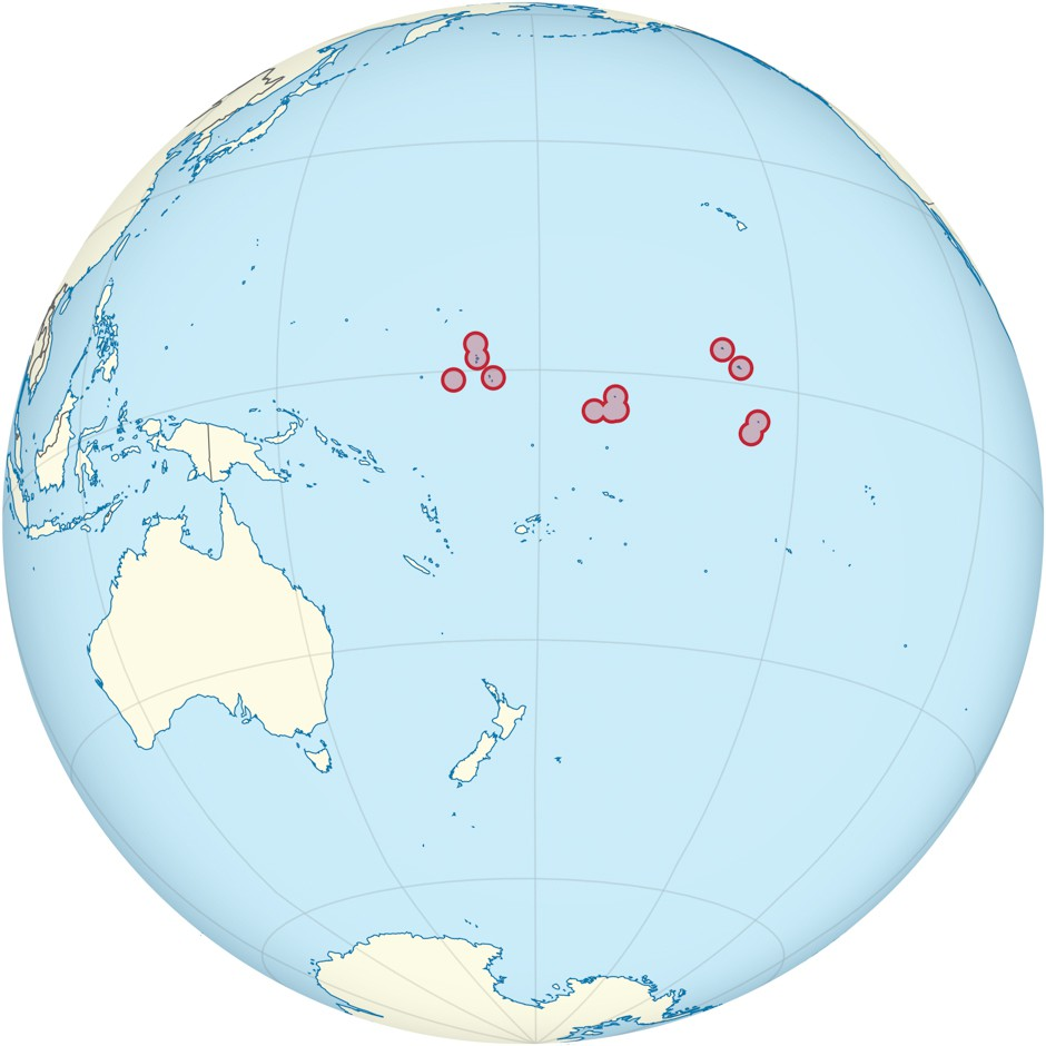 Kiribati location map