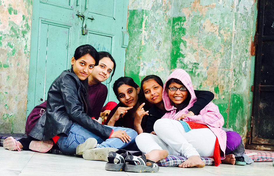Young girls find a place of safety, off the streets