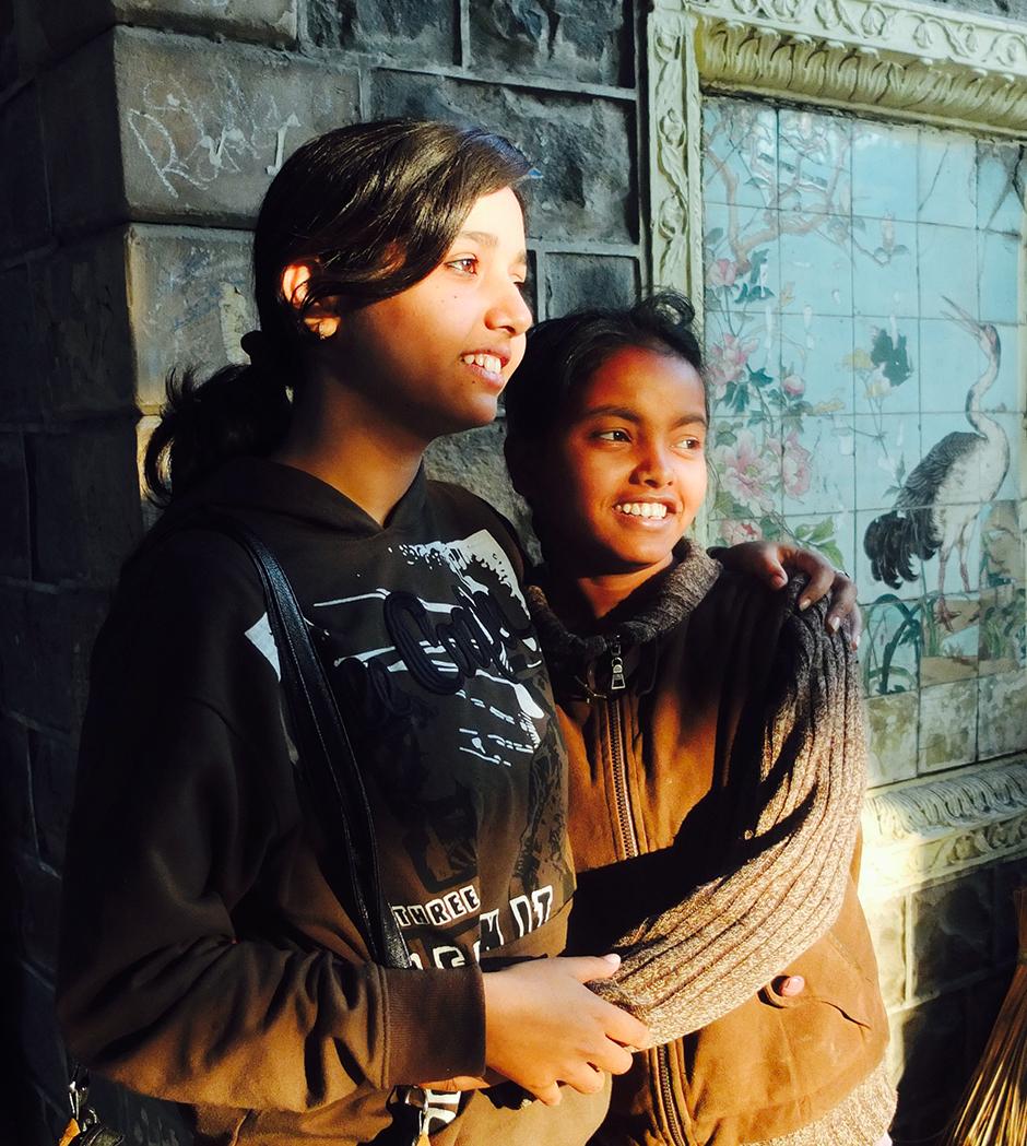 Volunteer Pragati with Soniya