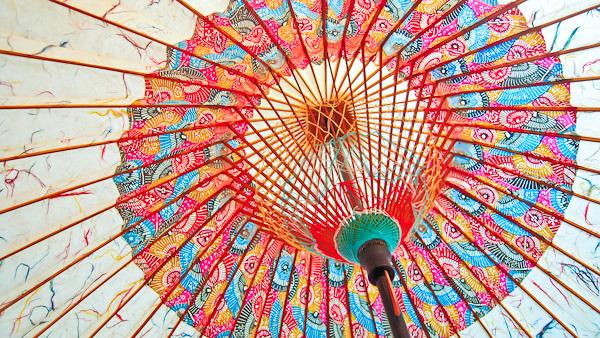 金沢の和傘は気候条件に適応するために作られており、自然素材を利用し、原材料の多くは街の近くで収穫されたものである。写真:ダビッド・ヒメネス