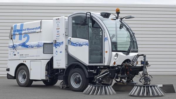 hy.muve(水素駆動型自治体専用車の略語)がきれいにするのはバーゼルの道路だけではない。写真:©EMPA スイス連邦材料試験研究所