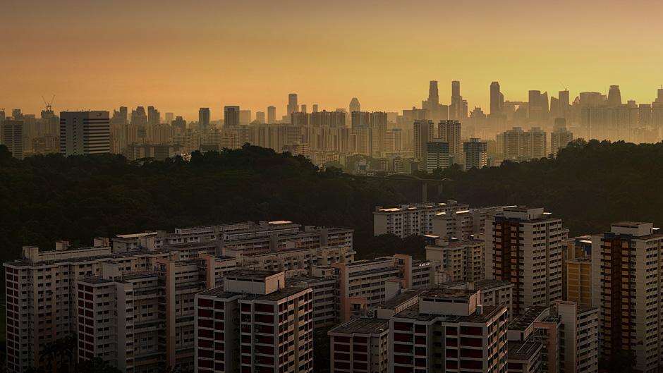 シンガポールの空中農園