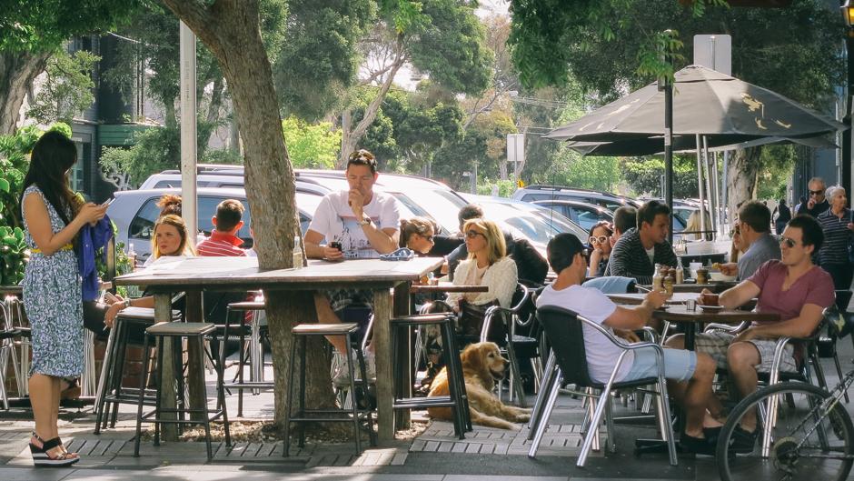 Melbourne street cafe