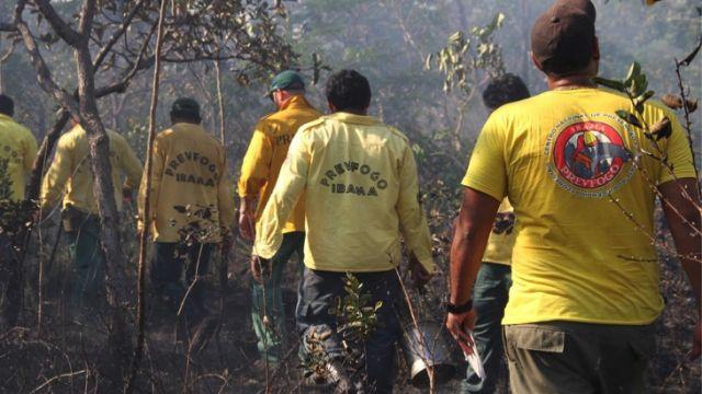 Brazilian fire management activities in Terra Indigenous. Photo: IBAMA/Prevfogo.
