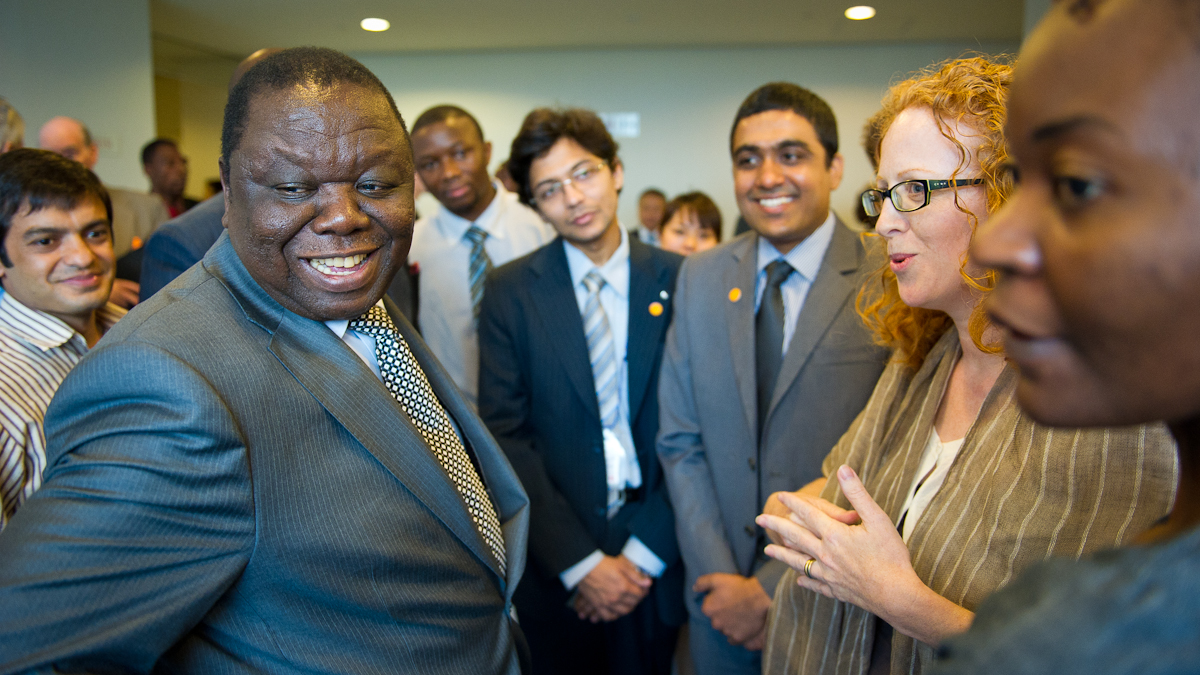 Morgan Tsvangirai, Prime Minister of Zimbabwe.<br>Photo: C. Christophersen/UNU