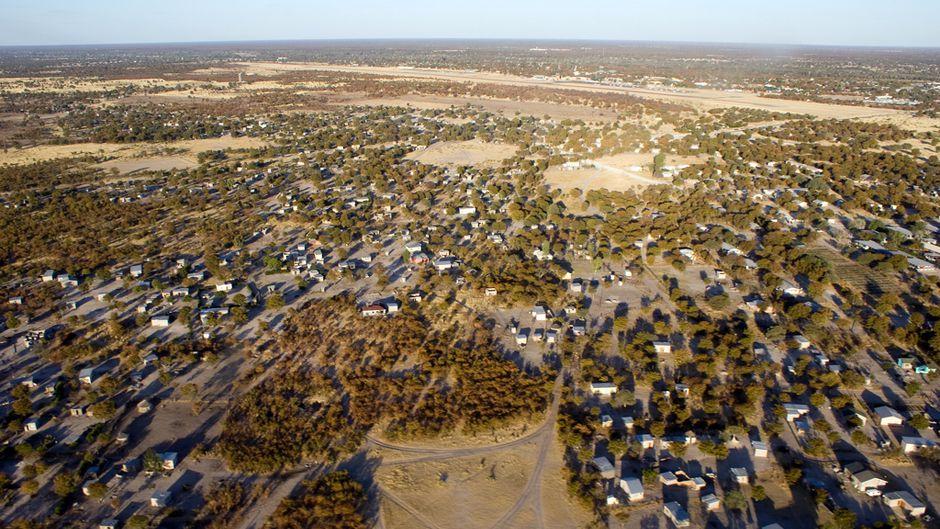 Aerial houses